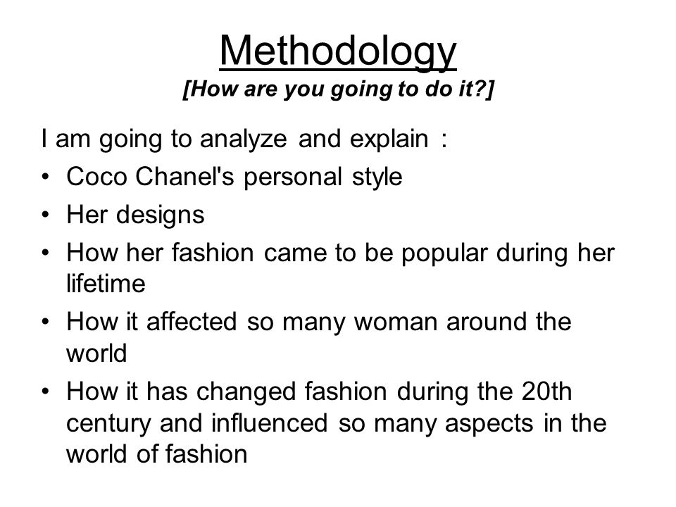 Literature Review [Briefly summarize the body of literature for your topic.] Coco Chanel had a very unique style for a woman of her time and her individual fashion sense inspired her to create a world of designs and eventually became a great success and established business with her exclusive Chanel look.