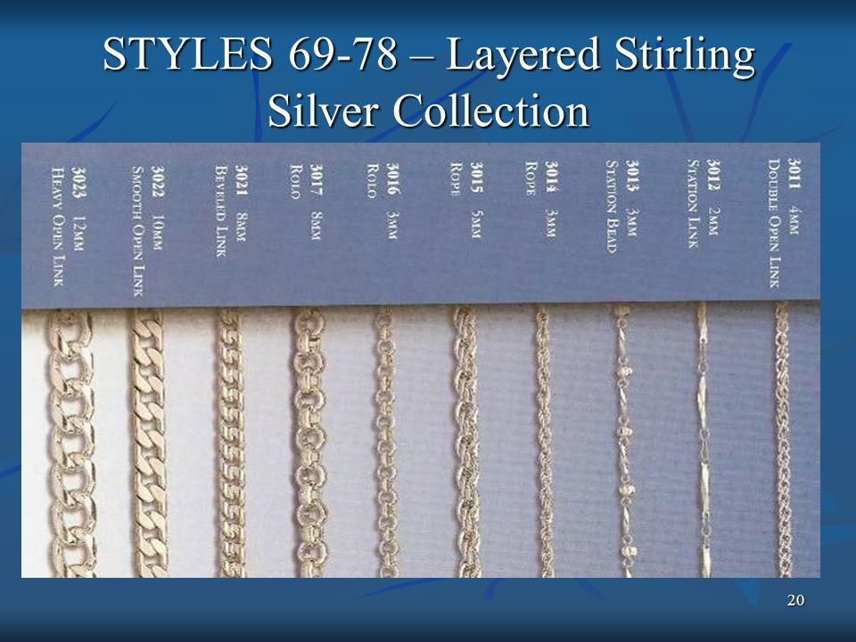 20 STYLES 69-78 – Layered Stirling Silver Collection