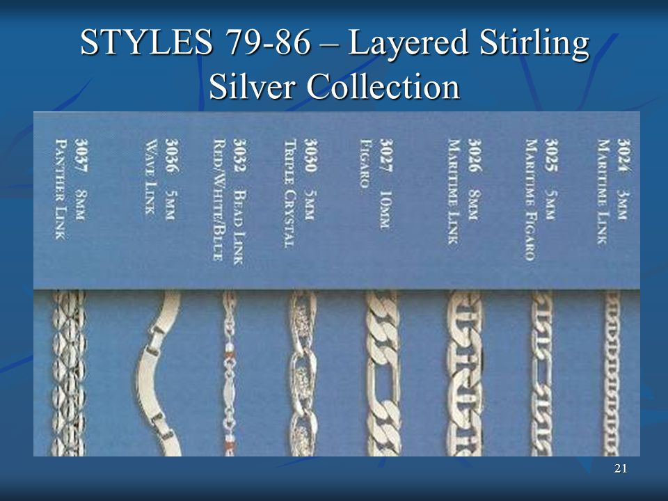 21 STYLES 79-86 – Layered Stirling Silver Collection