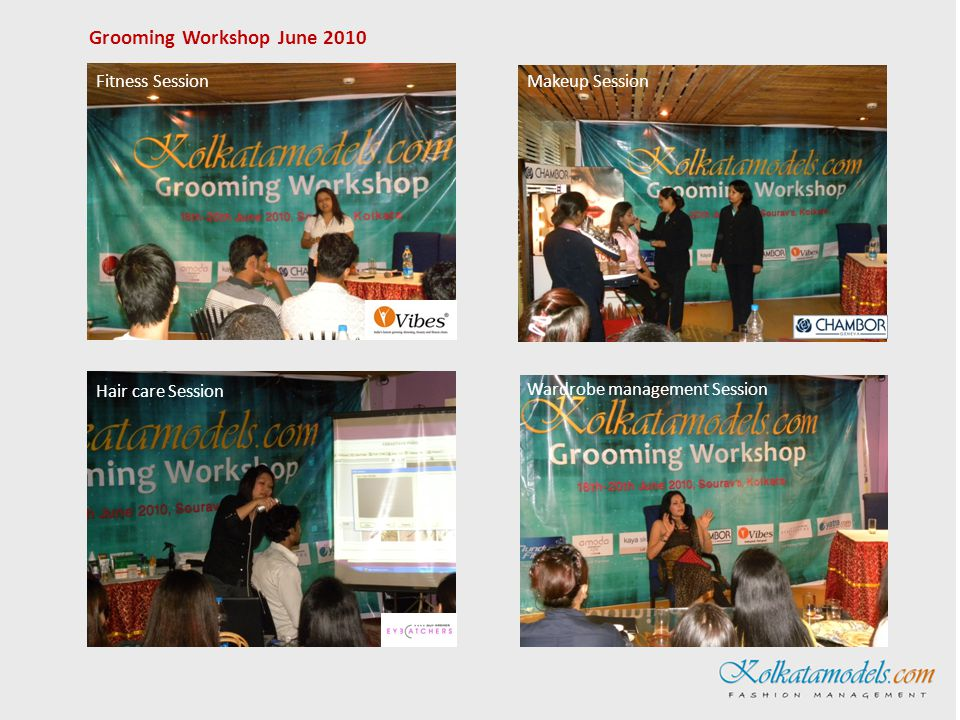 Personal wellness Session Skincare Session Ramp modelling Session Personality development Session