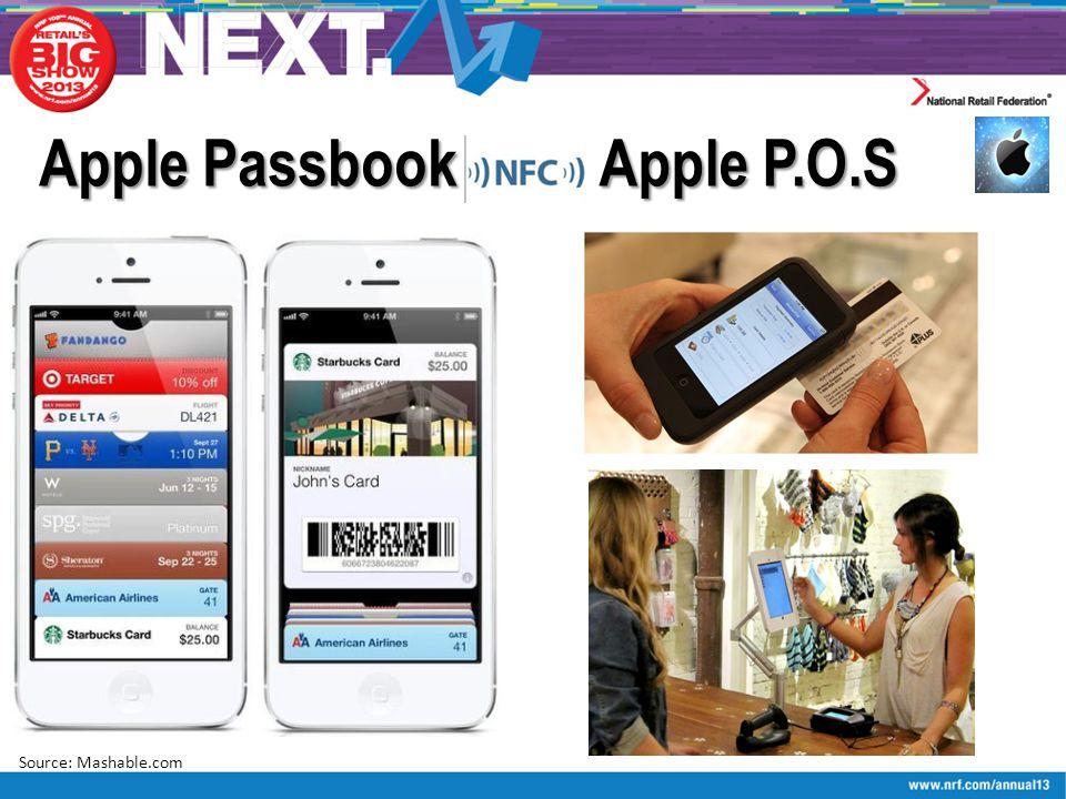 Apple Passbook Source: Mashable.com Apple P.O.S
