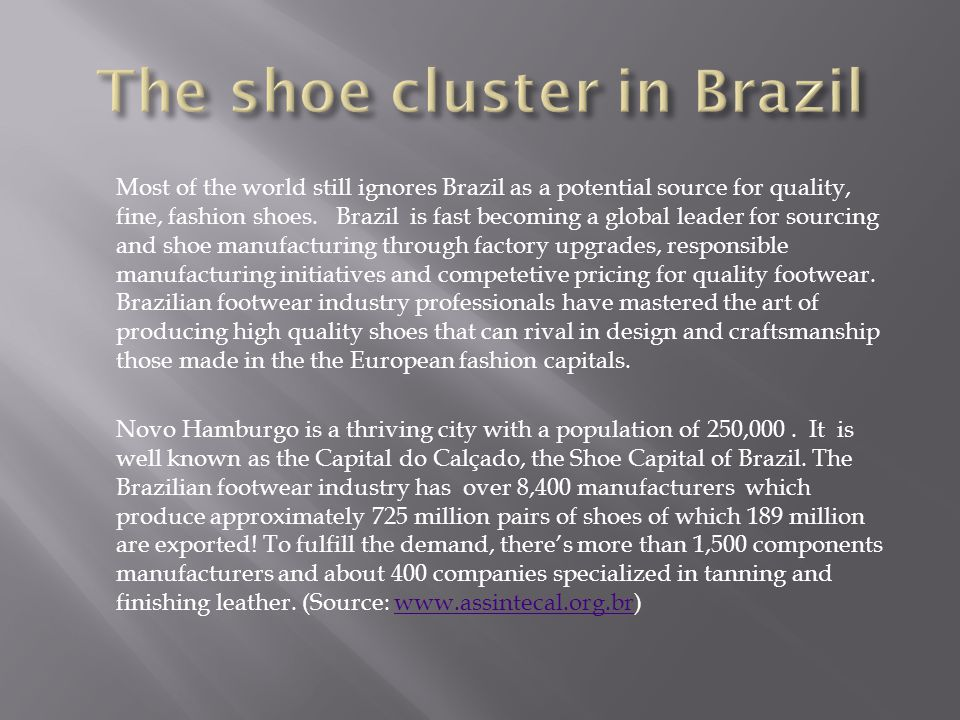 Because Brazil can offer: ACCOUNTABILITY : Eco sourcing addresses responsible environmental principles.