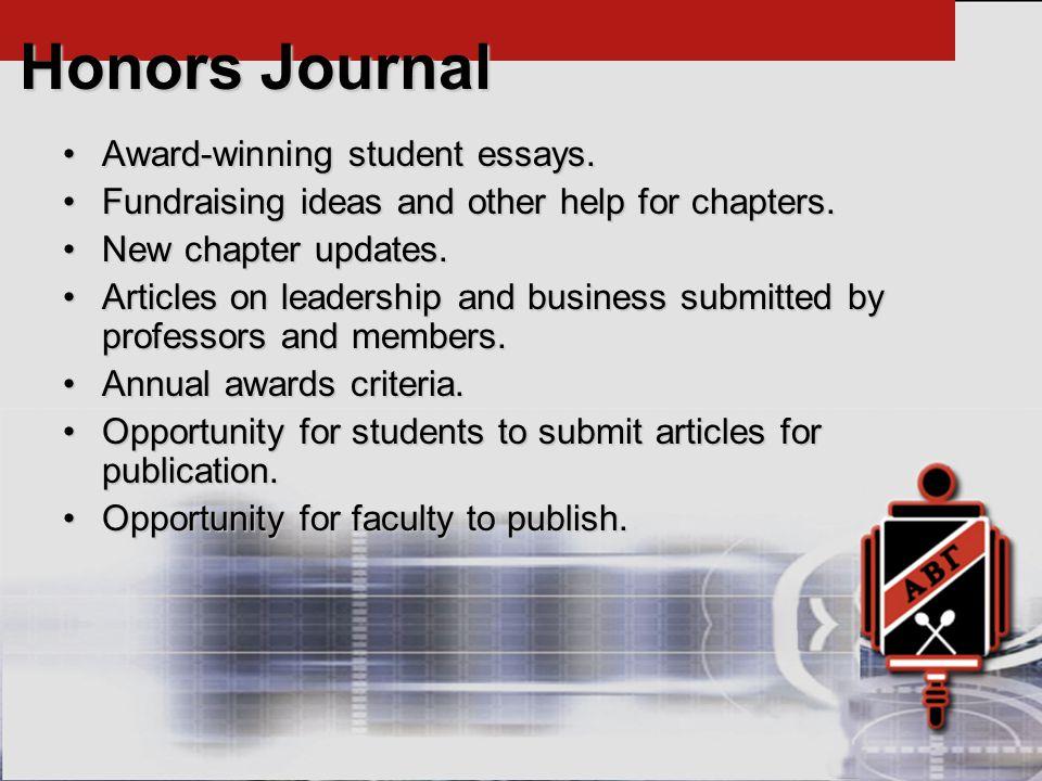 Award-winning student essays.Award-winning student essays.