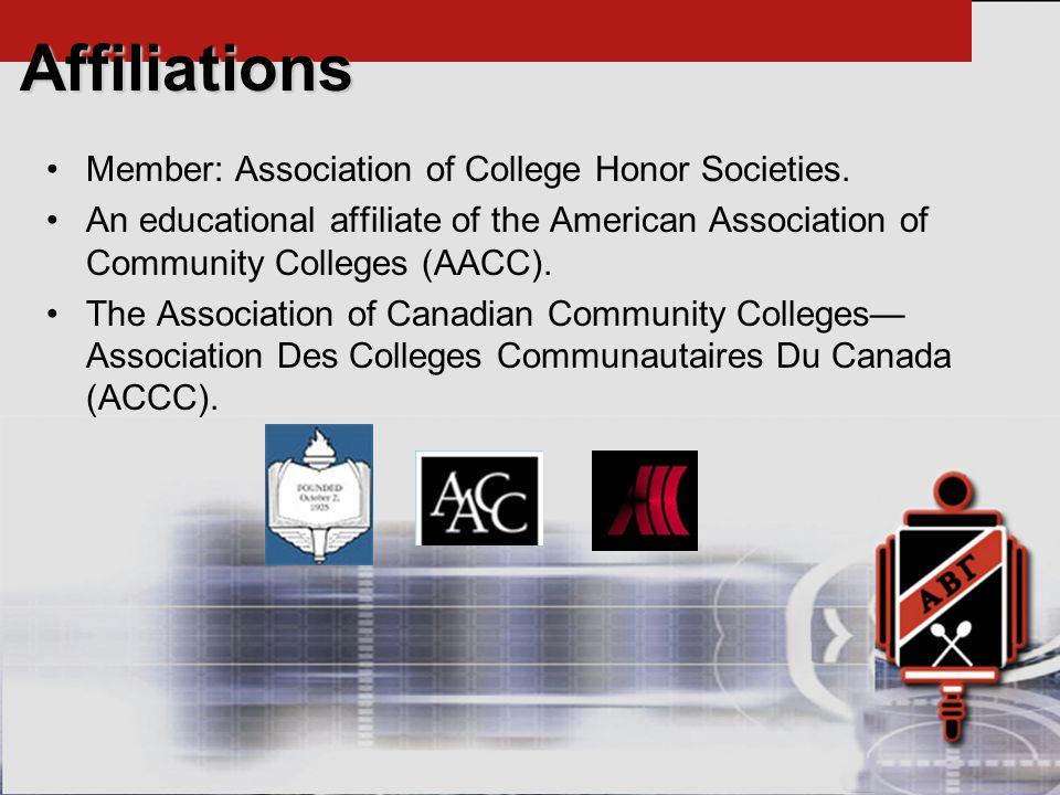 Member: Association of College Honor Societies.