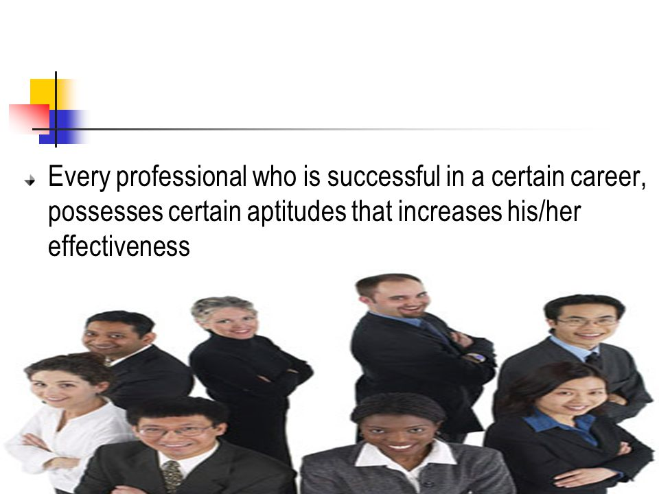 Every professional who is successful in a certain career, possesses certain aptitudes that increases his/her effectiveness