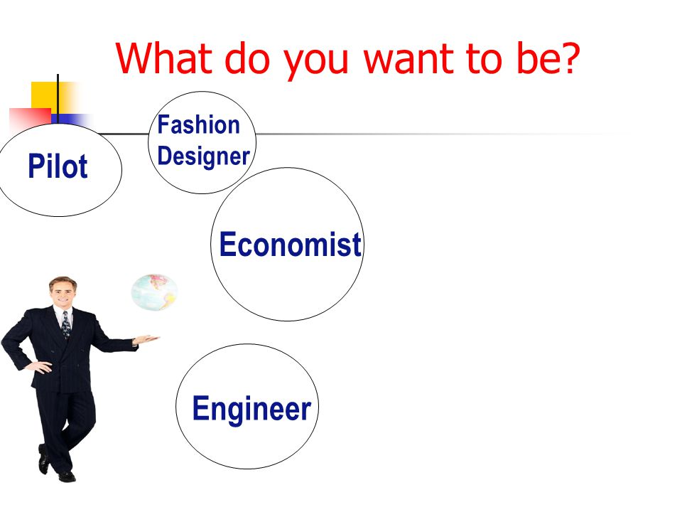 What do you want to be Pilot Fashion Designer Engineer Economist