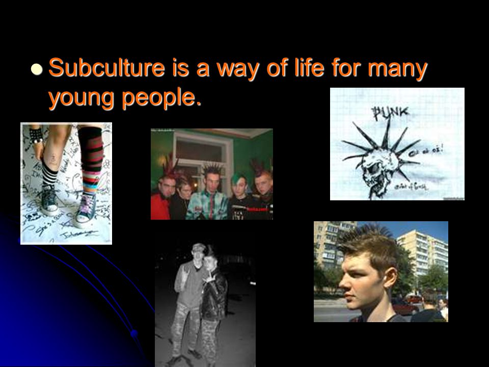 Punks subculture have their own beliefs, value systems, fashion and favorite music.