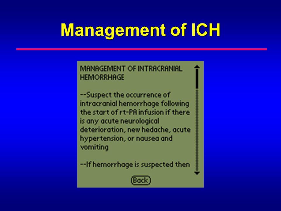 Management of ICH