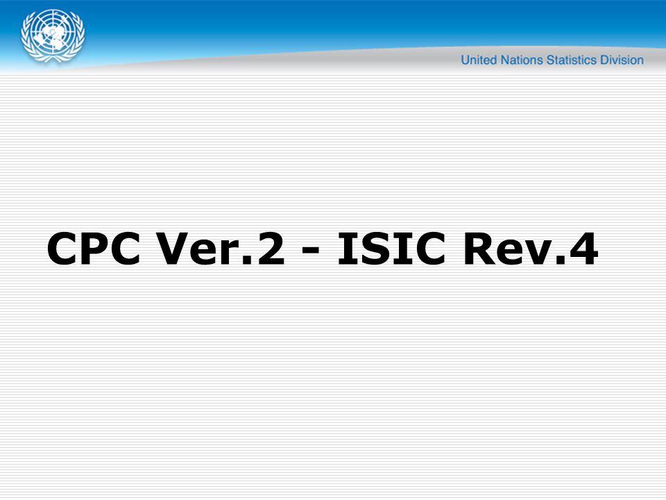 CPC Ver.2 - ISIC Rev.4