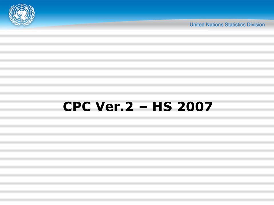 CPC Ver.2 – HS 2007