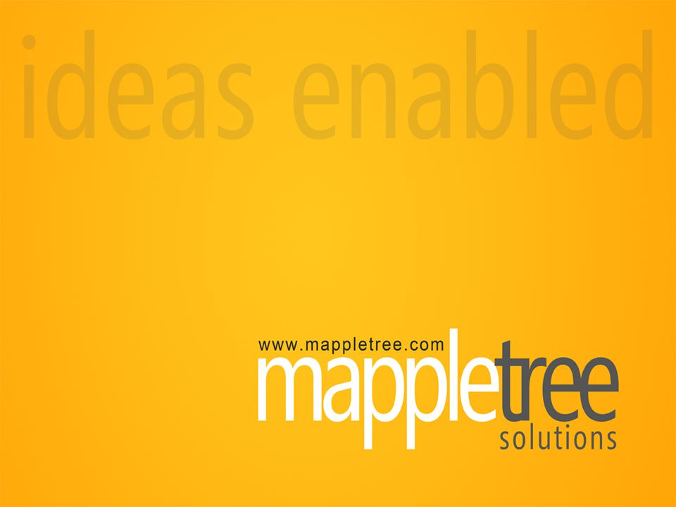 MappleTree: A start up venture with inherent strength in technology understanding that powers its delivery systems.