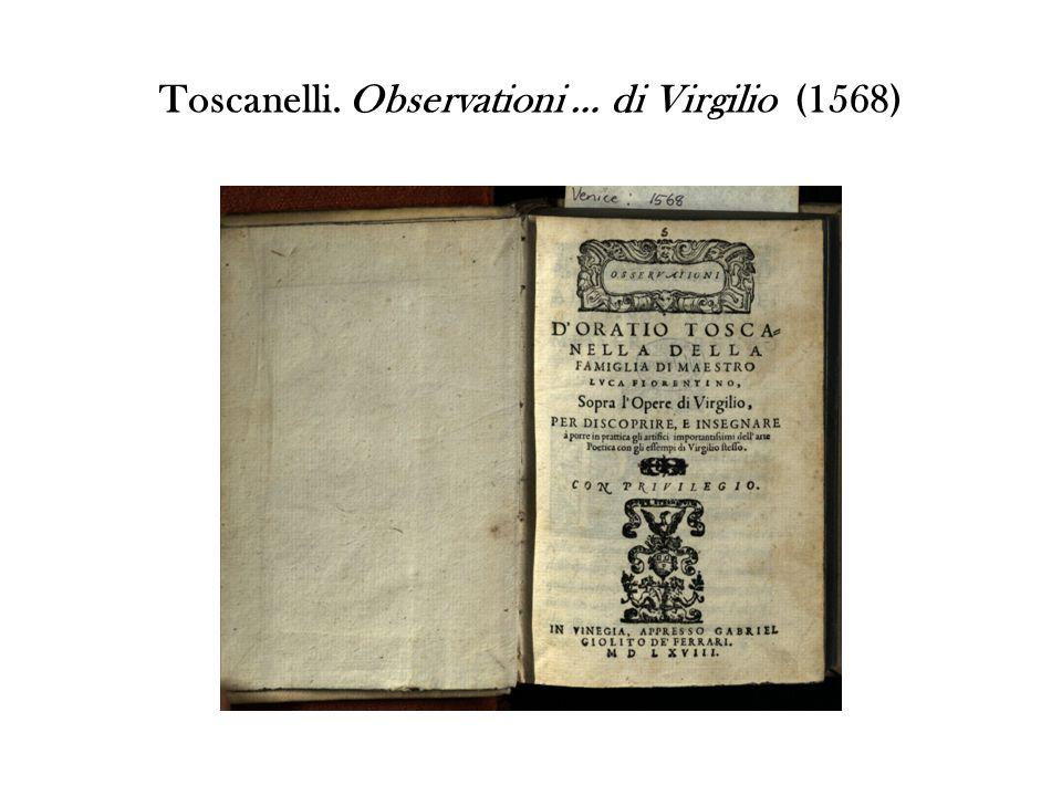 Toscanelli. Observationi … di Virgilio (1568)