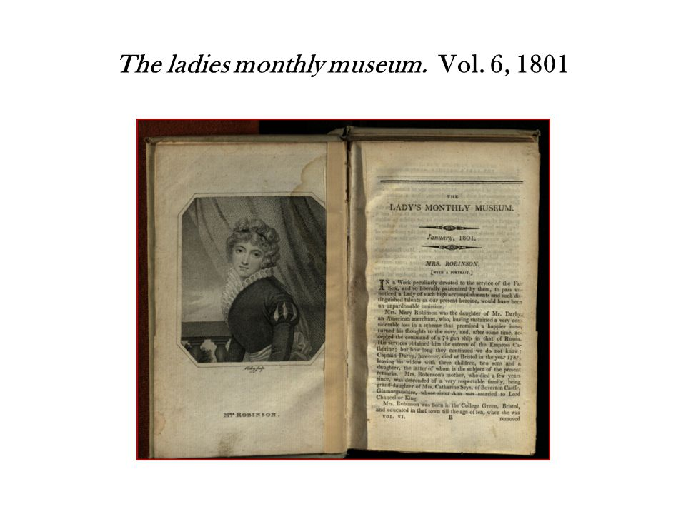The ladies monthly museum. Vol. 6, 1801