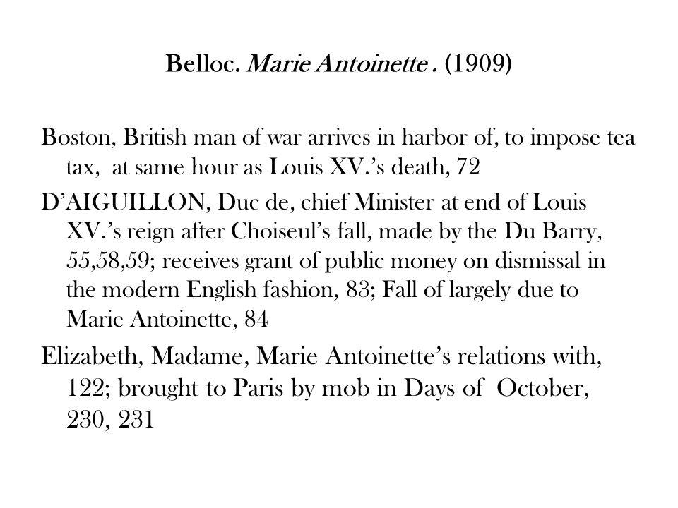 Belloc.Marie Antoinette.