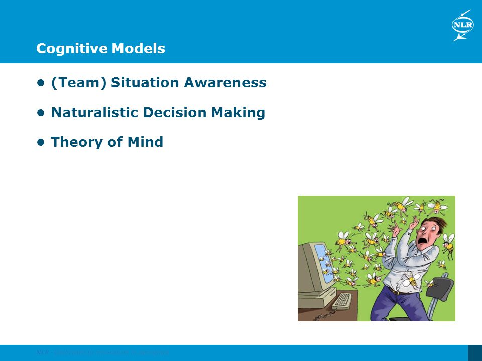 Cognitive Models (Team) Situation Awareness Naturalistic Decision Making Theory of Mind