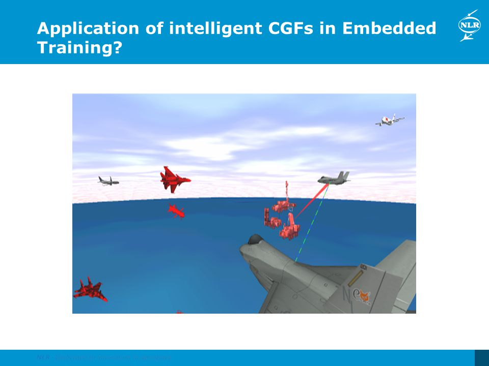 Application of intelligent CGFs in Embedded Training?