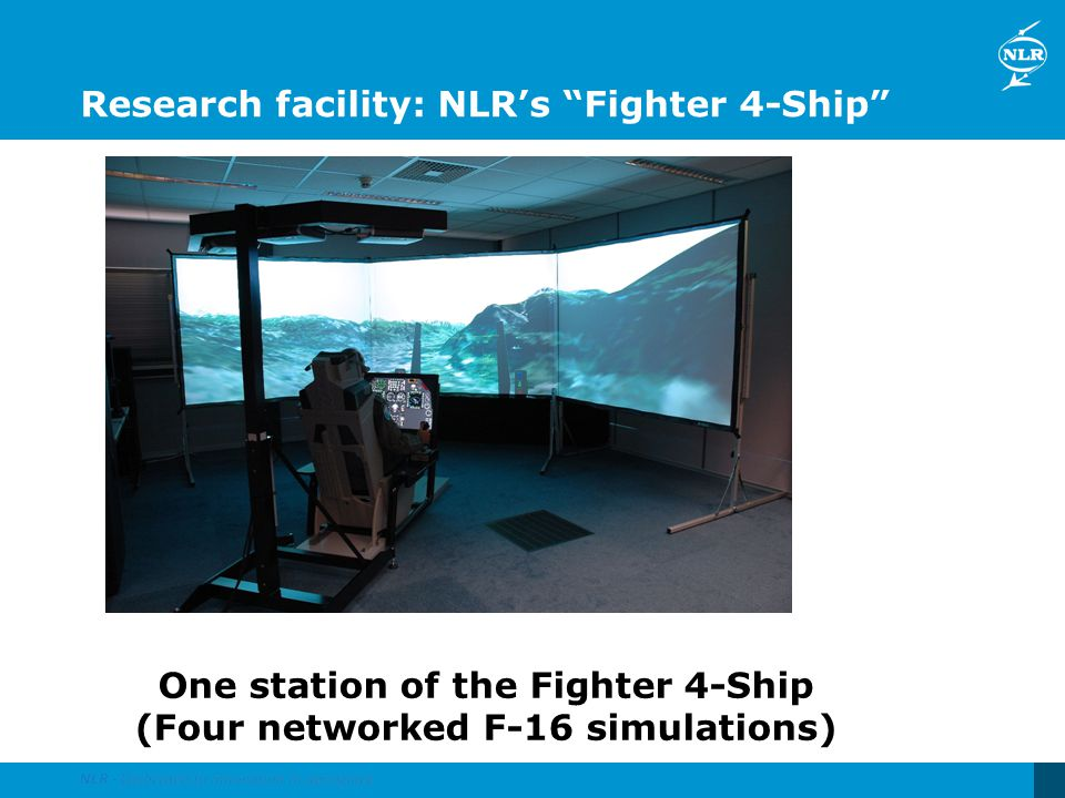 Research facility: NLRs Fighter 4-Ship One station of the Fighter 4-Ship (Four networked F-16 simulations)