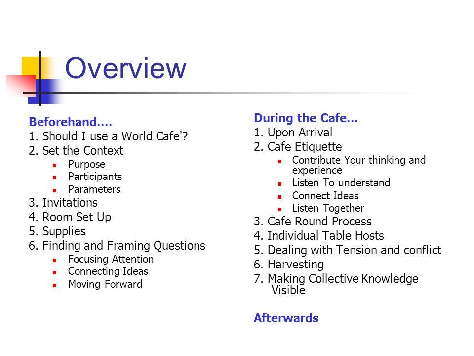 1.Should I Use a World Café.