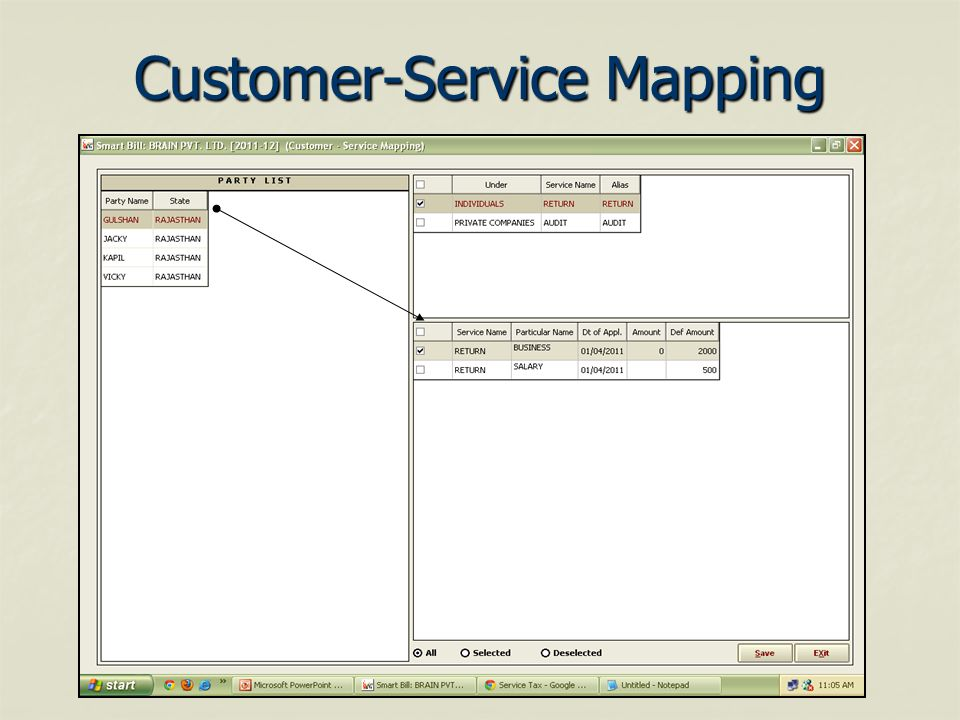 Customer-Service Mapping