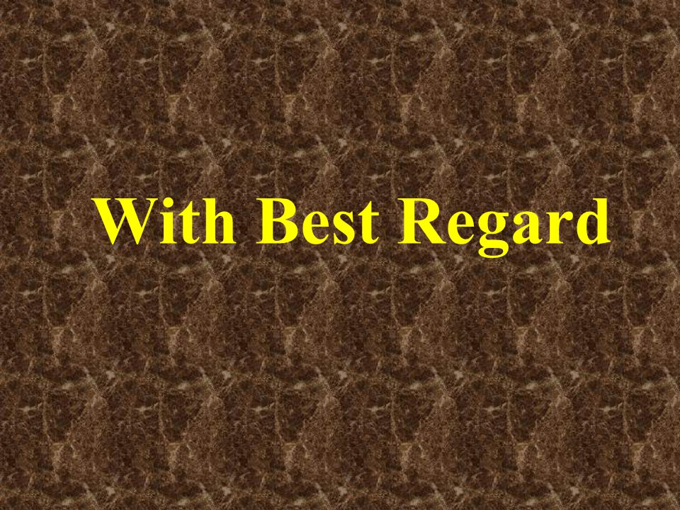 With Best Regard