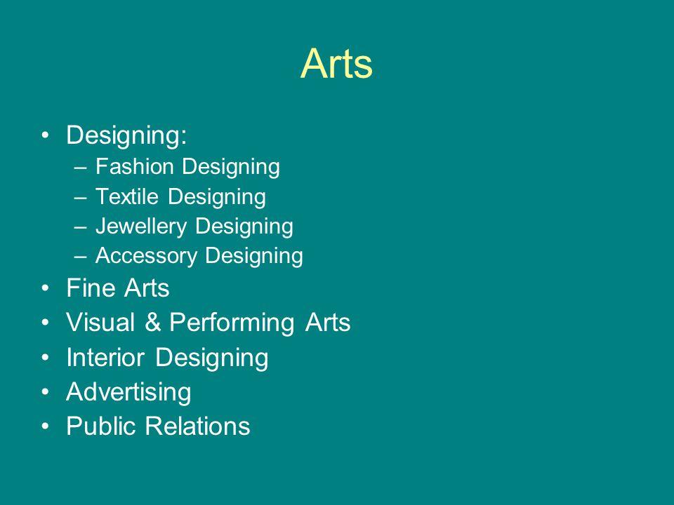 Arts contd… Media Journalism Event Management Travel & Tourism Archaeology Economics Psychology Anthropology