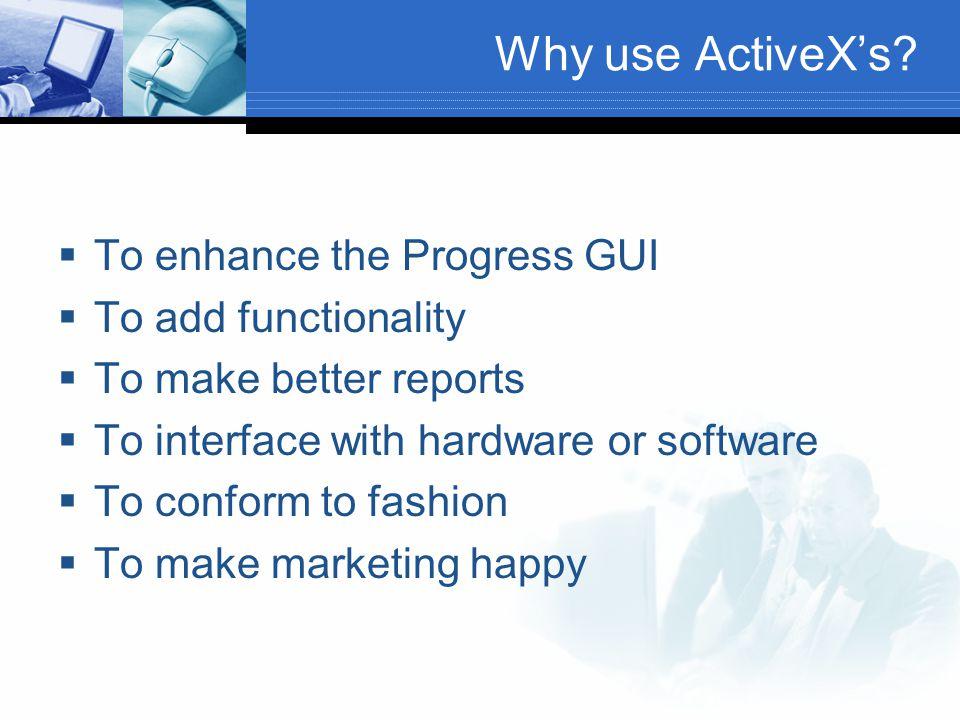 When to avoid ActiveX.