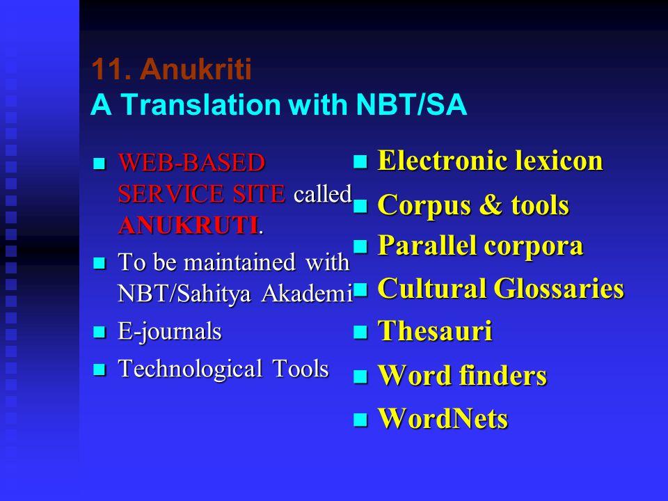 11.Anukriti A Translation with NBT/SA WEB-BASED SERVICE SITE called ANUKRUTI.