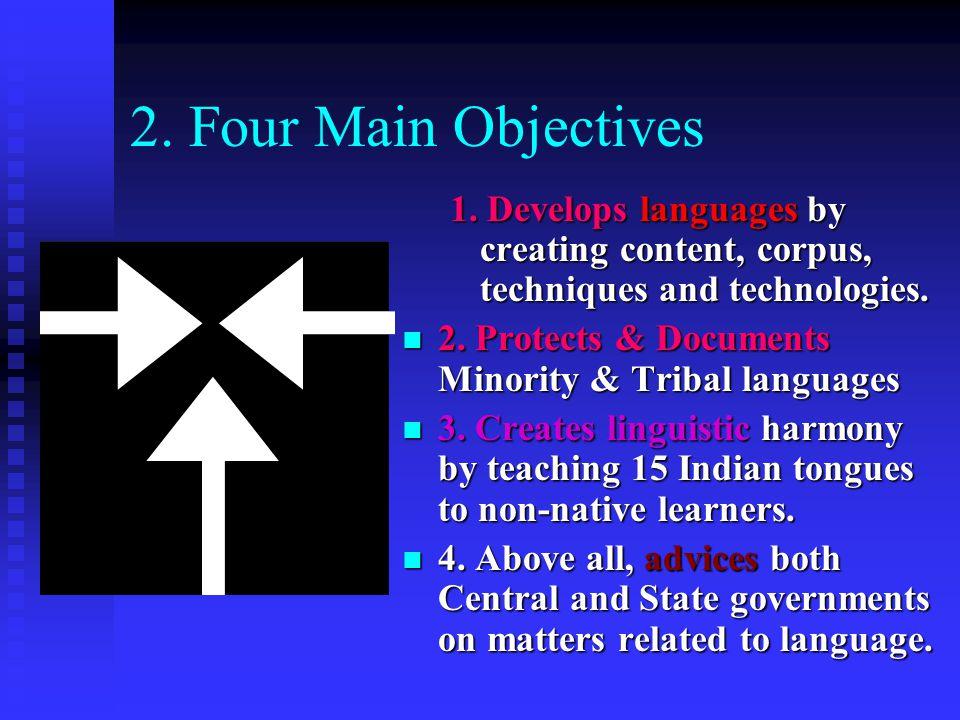 2. Four Main Objectives 1.