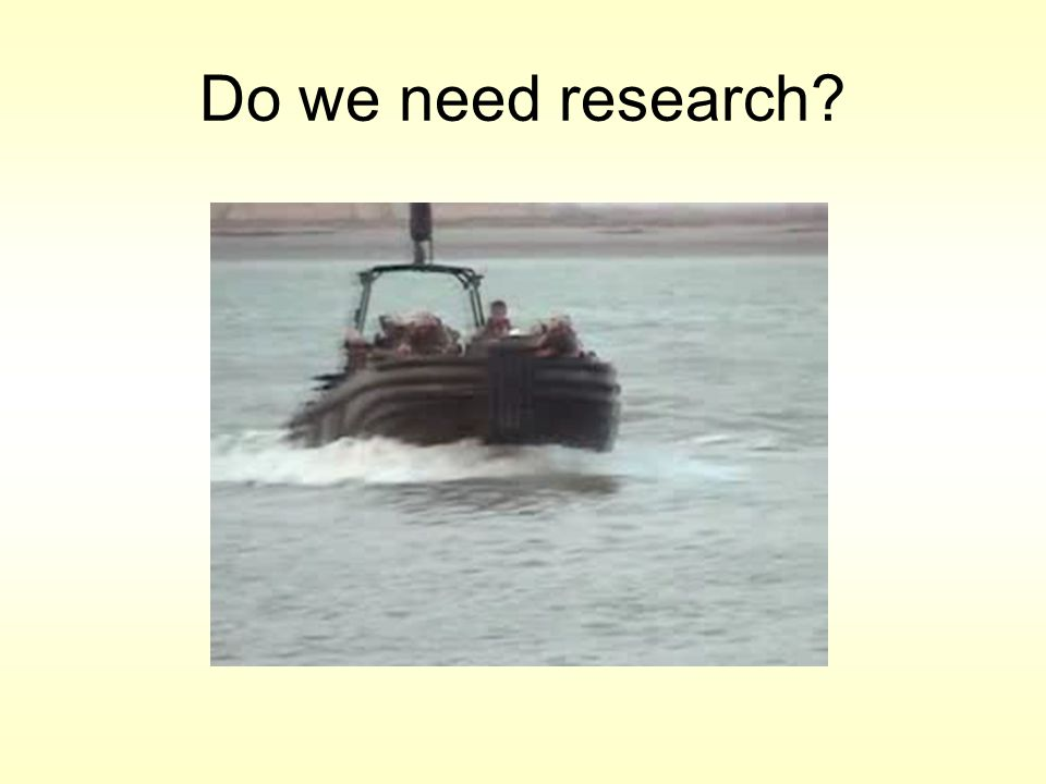 Do we need research?