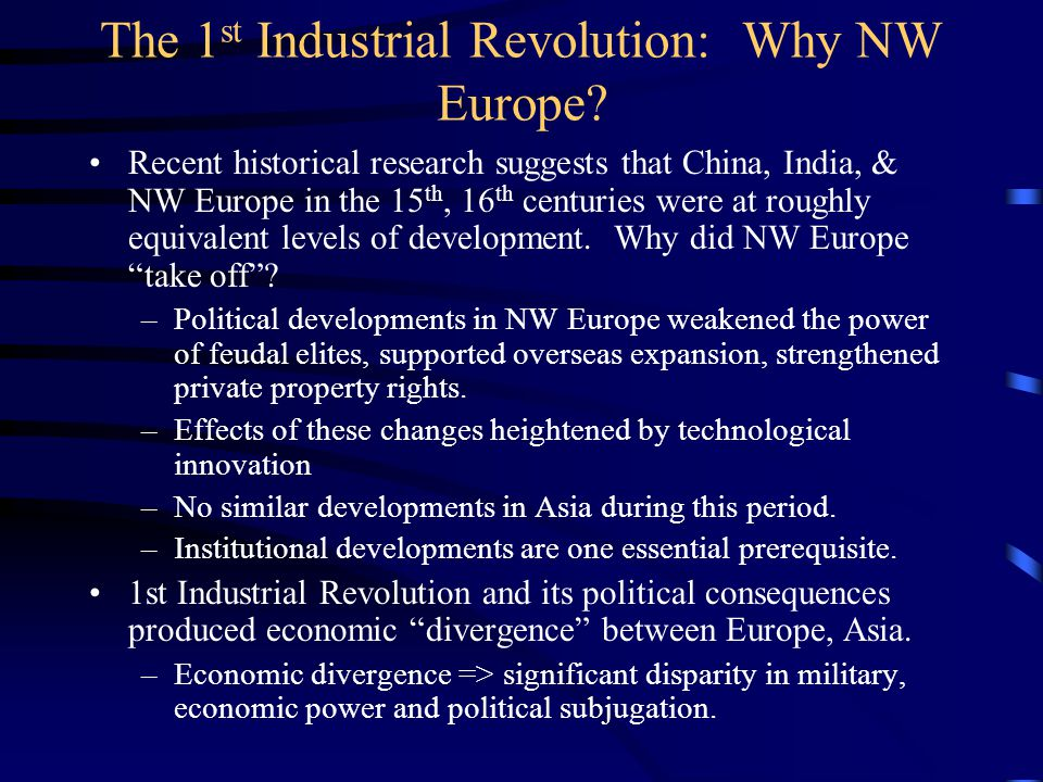 NSIs in the economic catch-up process Economic catch-up has occurred repeatedly: –US, Germany in the 19 th century.