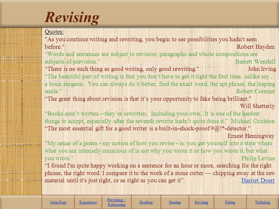 Revising Quotes: