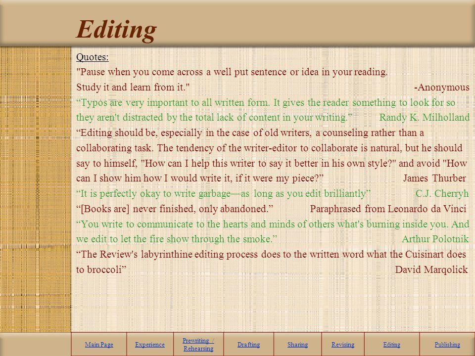 Editing Quotes: