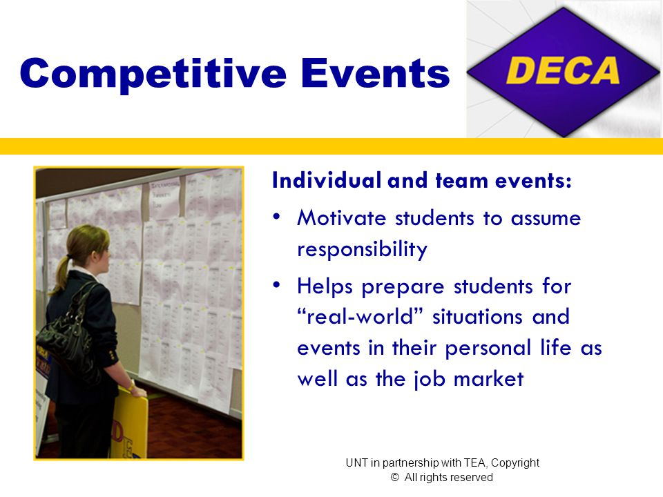 Competitive Conferences District State ICDC At ICDC over15,000 top competitors, corporate sponsors, business professionals, advisors and members from