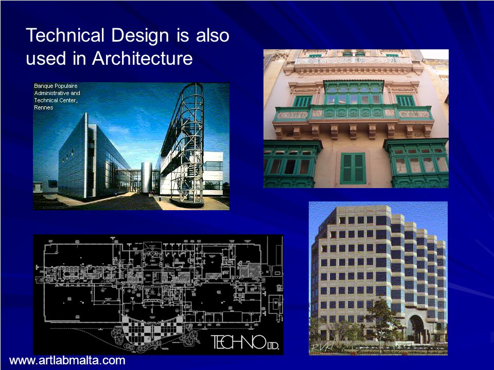Technical Design is also used in Architecture