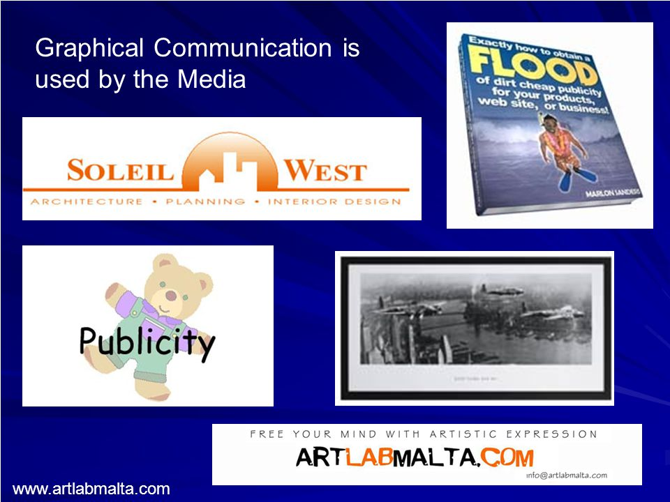 Graphical Communication is used by the Media