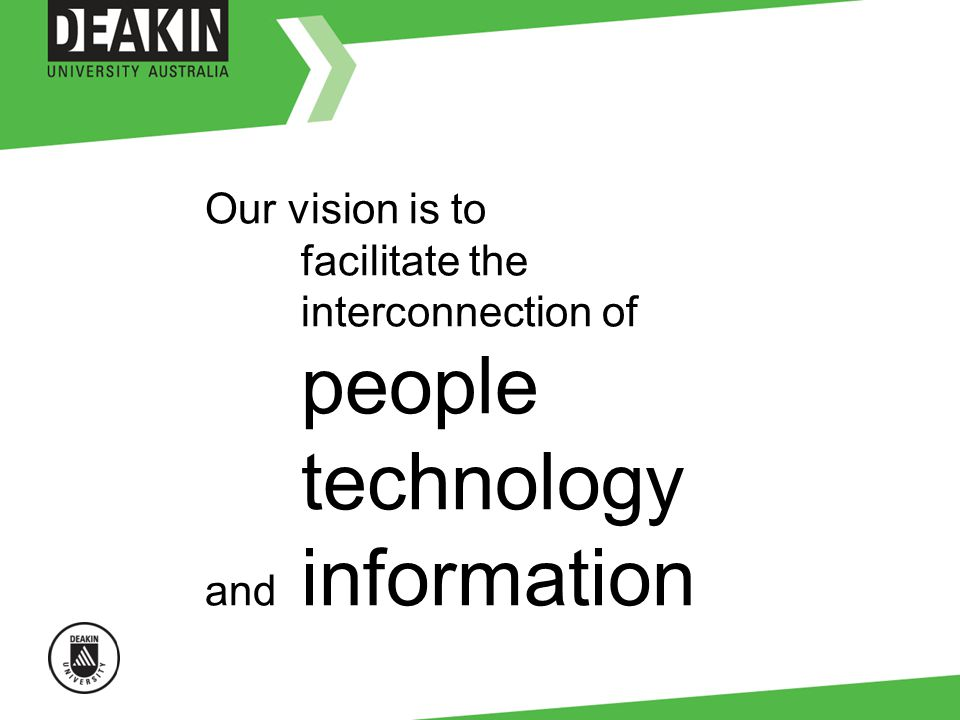 Our vision is to facilitate the interconnection of people technology and information