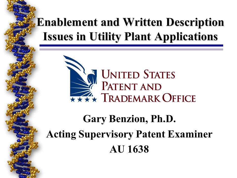 Art Unit 1638 Paula Hutzell, Ph.D., SPE (detail Biotech Practice ) Gary Benzion, Ph.D., Acting SPE Amy Nelson, Ph.D., Acting SPE Beth McElwain, Ph.D.,Primary Examiner David Fox, M.S., Primary Examiner Phuong Bui, M.S., Primary Examiner Ashwin Mehta, Ph.D., Patent Examiner Medina Ibrahim, M.S., Patent Examiner Ousama Zaghmout, Ph.D., Patent Examiner Cynthia Collins, M.S., Patent Examiner Anne Kubelik, Ph.D., Patent Examiner Francis Moonan, Ph.D., Patent Examiner David Kruse, Ph.D., Patent Examiner
