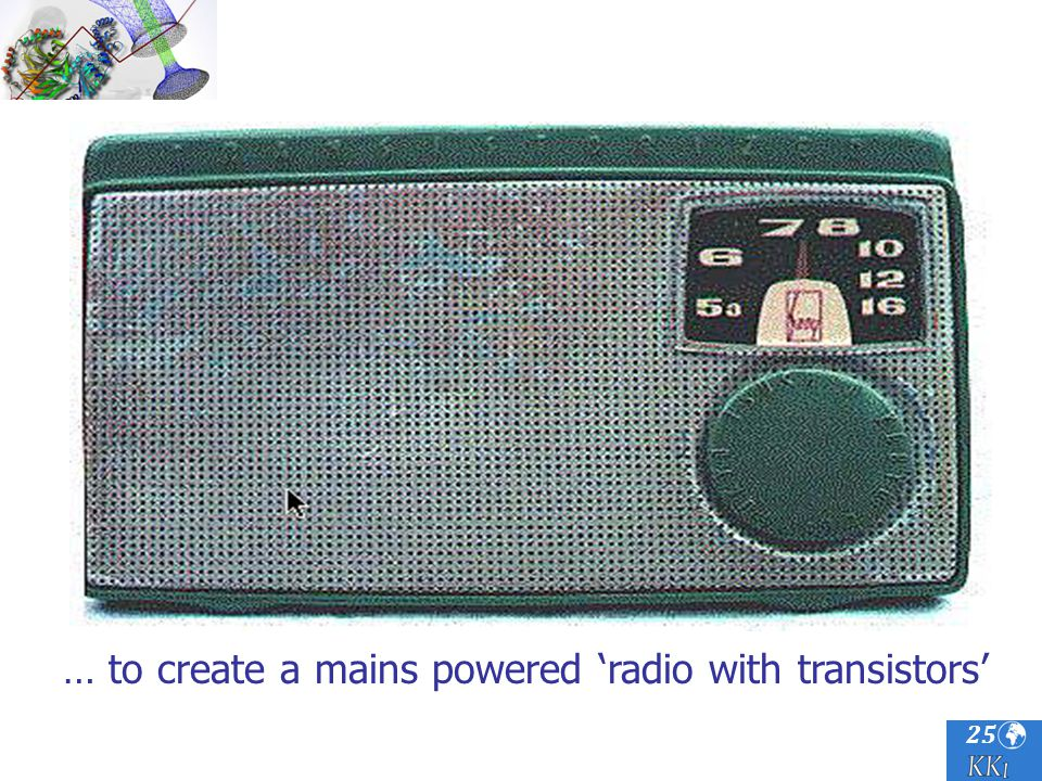 25 … to create a mains powered radio with transistors