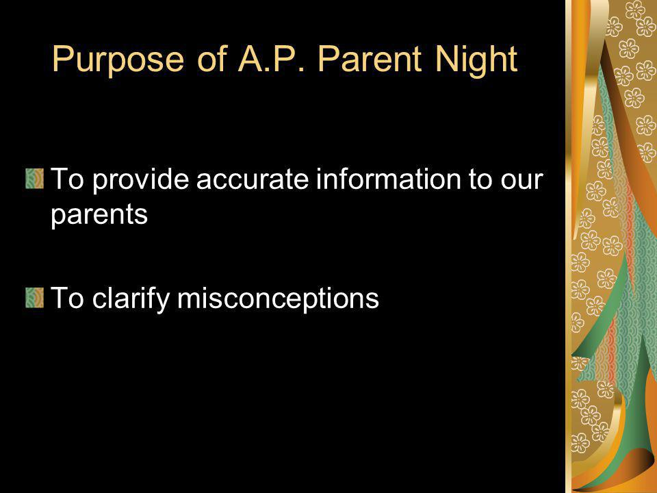 Purpose of A.P.