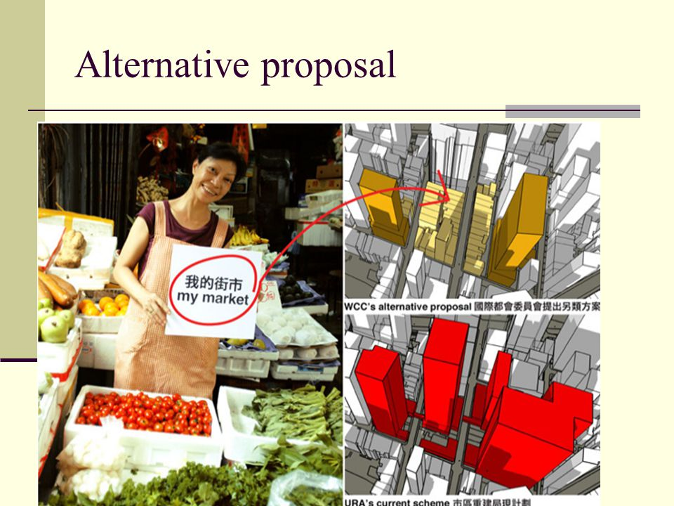 Alternative proposal