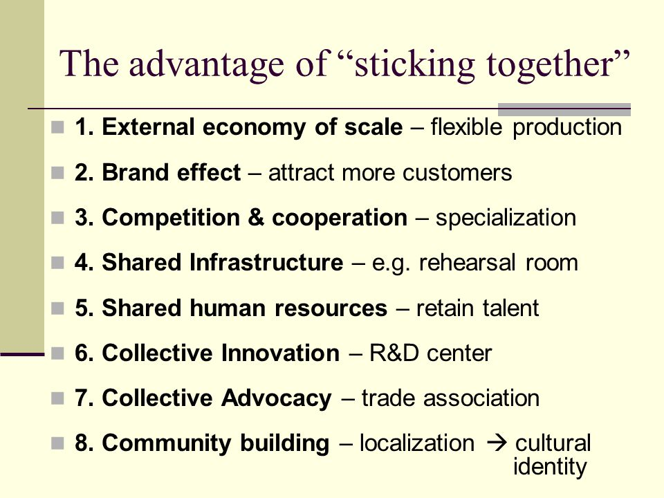 Cultural Clusters in Central 1.Cultural infrastructures.