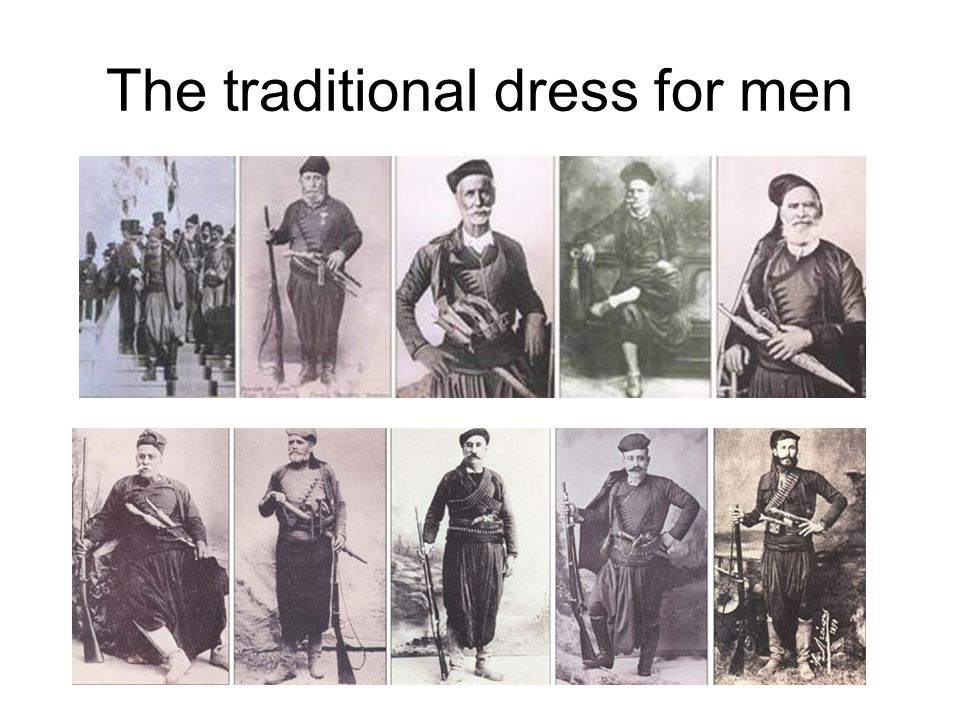 The traditional dress for men