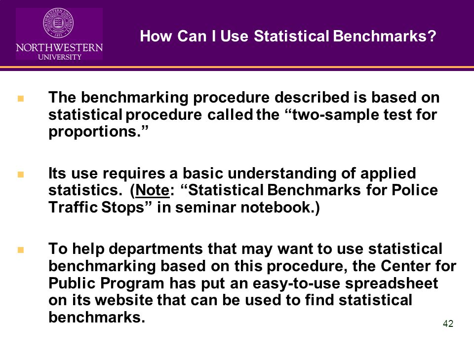 42 How Can I Use Statistical Benchmarks.