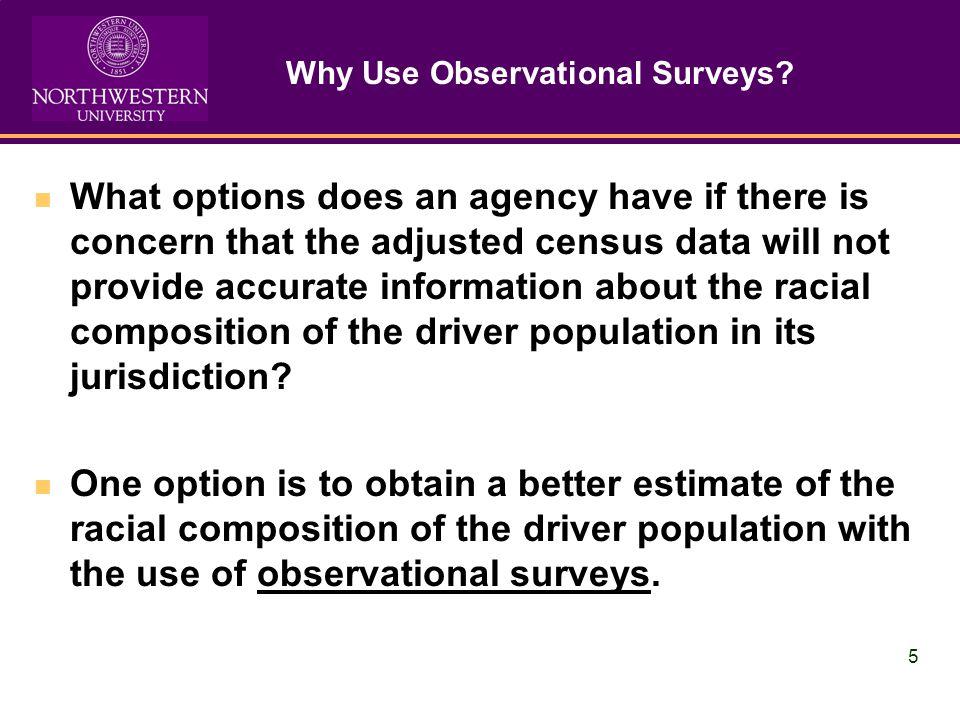 5 Why Use Observational Surveys.
