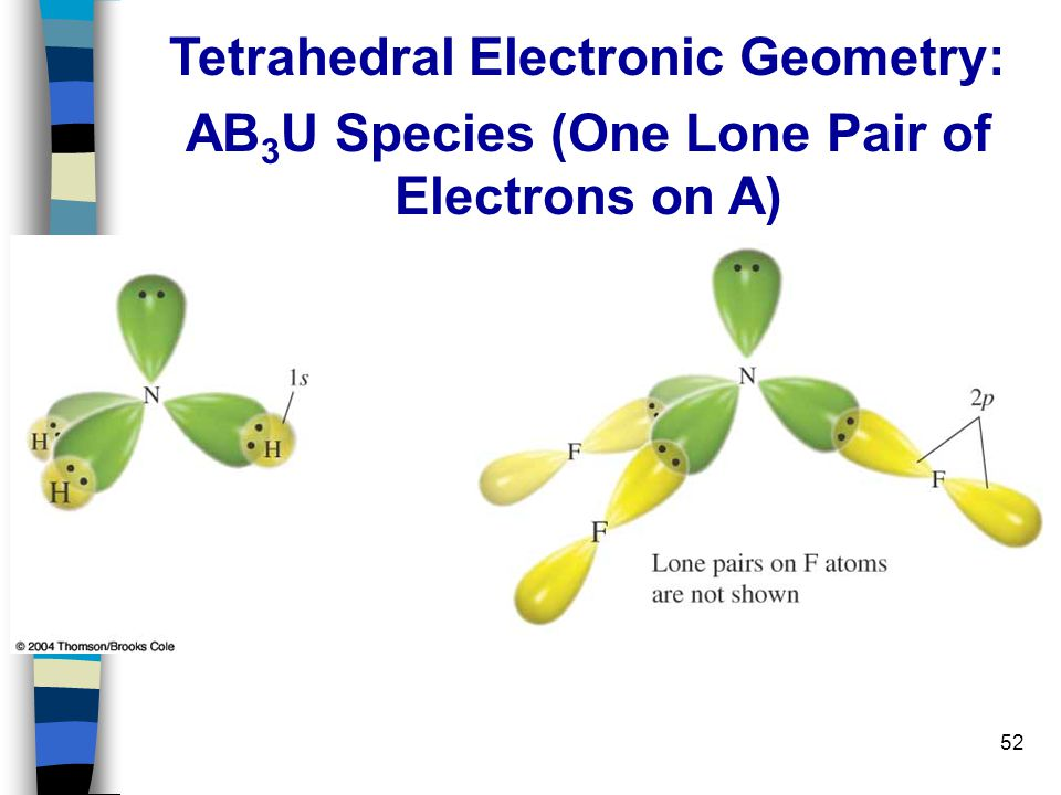 52 Tetrahedral Electronic Geometry: AB 3 U Species (One Lone Pair of Electrons on A)