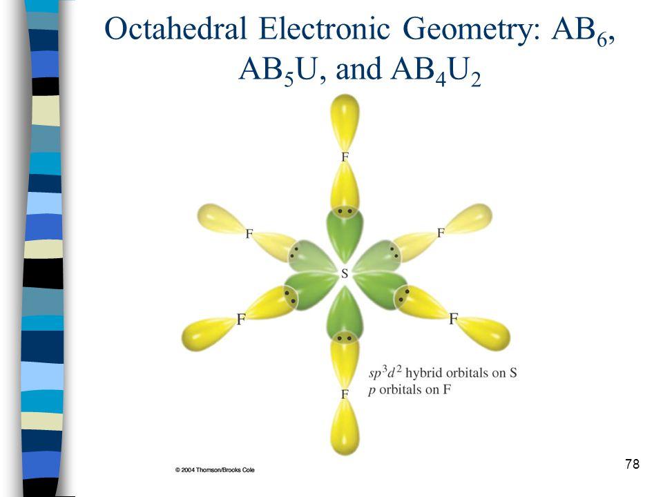 78 Octahedral Electronic Geometry: AB 6, AB 5 U, and AB 4 U 2