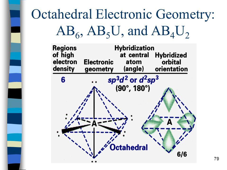 79 Octahedral Electronic Geometry: AB 6, AB 5 U, and AB 4 U 2