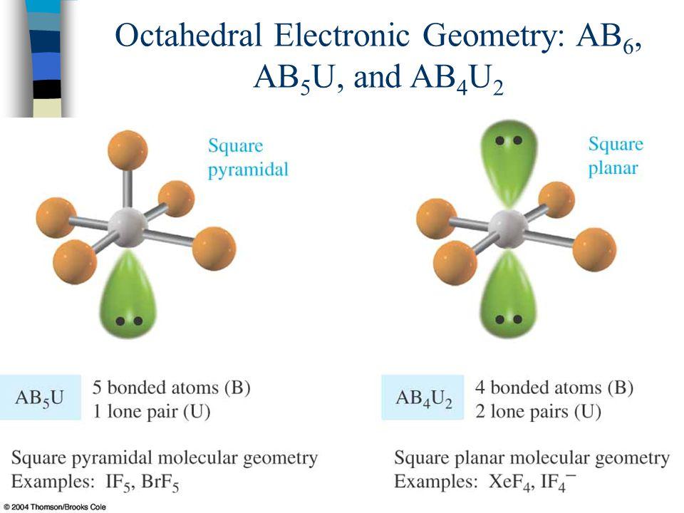 85 Octahedral Electronic Geometry: AB 6, AB 5 U, and AB 4 U 2