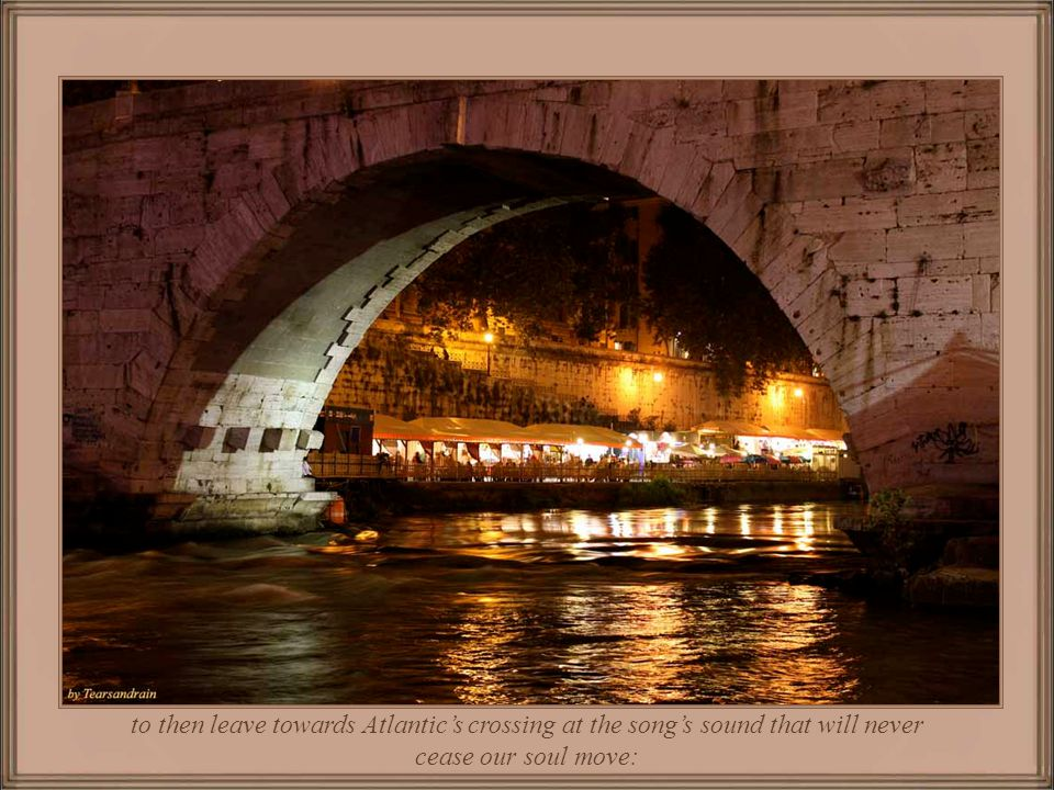 And, last nights memories are of a dinner in a typical restaurant by Tiber margins,