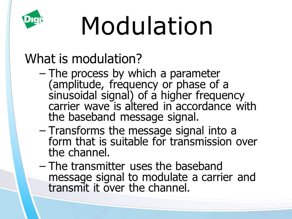 Modulation What is modulation.